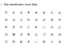 Risk Identification Icons Slide Agenda Gears Ppt Powerpoint Presentation Gallery Model