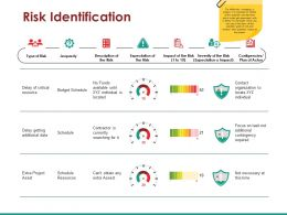 Risk Identification Ppt Examples