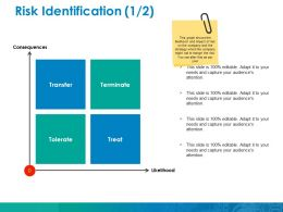 Risk Identification Ppt File Vector