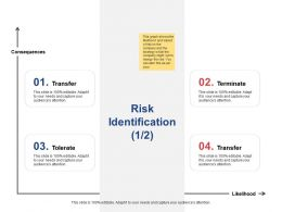 Risk Identification Transfer Terminate Ppt Powerpoint Presentation Gallery Picture