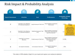 Risk Impact And Probability Analysis Ppt Layouts Examples