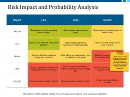 Risk Impact And Probability Analysis Ppt Layouts Good