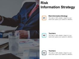 Risk Information Strategy Ppt Powerpoint Presentation Summary Example Introduction Cpb
