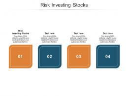 Risk Investing Stocks Ppt Powerpoint Presentation Show Portfolio Cpb