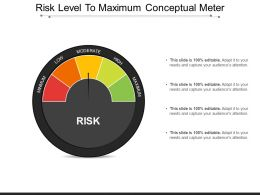 Risk Level To Maximum Conceptual Meter