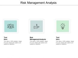 Risk Management Analysis Ppt Powerpoint Presentation Infographic Template Graphics Pictures Cpb