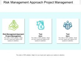 Risk Management Approach Project Management Ppt Powerpoint Presentation Deck Cpb