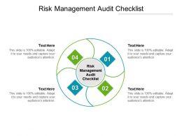 Risk Management Audit Checklist Ppt Powerpoint Presentation Icon Graphics Tutorials Cpb