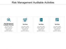 Risk Management Auditable Activities Ppt Powerpoint Presentation Professional Cpb
