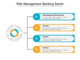 Risk Management Banking Sector Ppt Powerpoint Presentation Summary Cpb