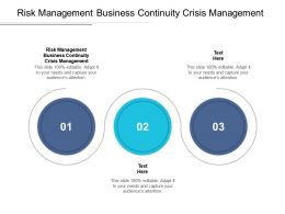 Risk Management Business Continuity Crisis Management Ppt Powerpoint Layouts Cpb