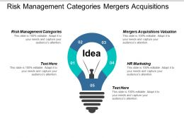 Risk Management Categories Mergers Acquisitions Valuation Hr Marketing Cpb