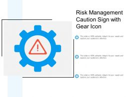 Risk Management Caution Sign With Gear Icon