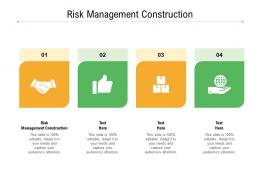 Risk Management Construction Ppt Powerpoint Presentation Slides Graphic Images Cpb