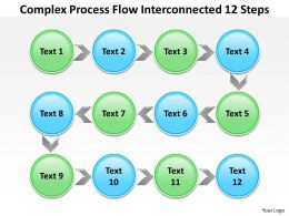 Risk Management Consulting Complex Process Flow Interconnected 12 Steps Powerpoint Slides 0523