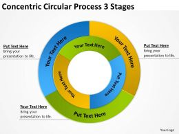 Risk Management Consulting Concentric Circular Process 3 Stages Powerpoint Slides 0523