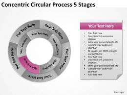Risk Management Consulting Concentric Circular Process 5 Stages Powerpoint Slides 0523