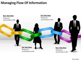 Risk Management Consulting Managing Flow Of Information Powerpoint Templates PPT Backgrounds Slides