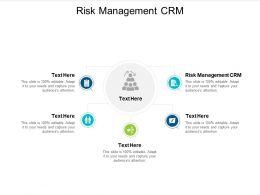 Risk Management CRM Ppt Powerpoint Presentation Layouts Design Ideas Cpb