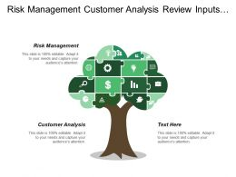 Risk Management Customer Analysis Review Inputs Operational Plans