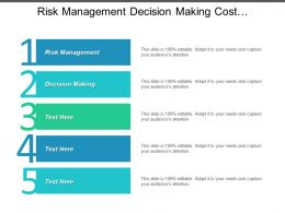 Risk Management Decision Making Cost Management Systems Investment Strategies Cpb