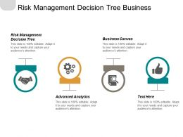 Risk Management Decision Tree Business Canvas Advanced Analytics Grey Market Cpb