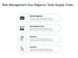 Risk Management Due Diligence Tools Supply Chain Management Cpb