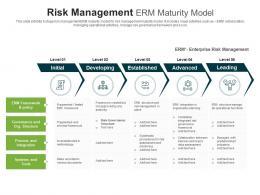 Risk Management Erm Maturity Model