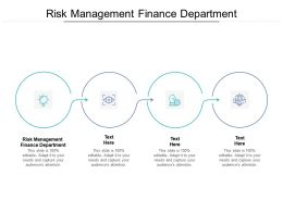 Risk Management Finance Department Ppt Powerpoint Presentation Model Deck Cpb