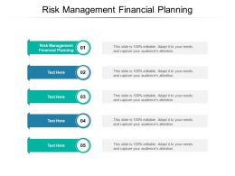 Risk Management Financial Planning Ppt Powerpoint Presentation Visuals Cpb