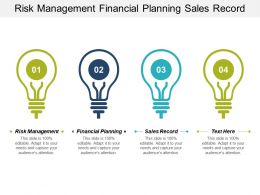 Risk Management Financial Planning Sales Record Investment Planner Cpb