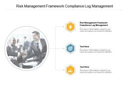 Risk Management Framework Compliance Log Management Ppt Powerpoint Presentation Inspiration Deck Cpb