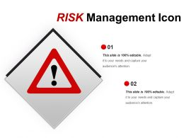 Risk Management Icon Ppt Design Templates