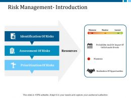 Risk Management Introduction Ppt Layouts Guidelines