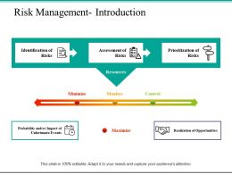 Risk Management Introduction Ppt Powerpoint Presentation File Styles