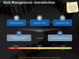 Risk Management Introduction Ppt Professional Graphics Download