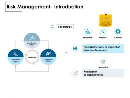 Risk Management Introduction Realization Opportunities Ppt Powerpoint Presentation Show Outfit