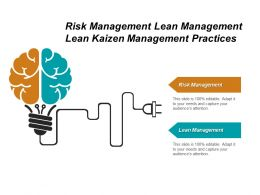 Risk Management Lean Management Lean Kaizen Management Practices Cpb