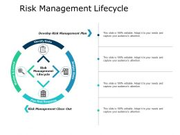 Risk Management Lifecycle Analyze Ppt Powerpoint Presentation Show Files