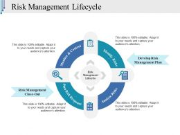 Risk Management Lifecycle Powerpoint Themes