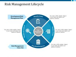 Risk Management Lifecycle Ppt Layouts Ideas