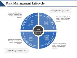 Risk Management Lifecycle Ppt Slide Templates