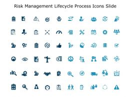 Risk Management Lifecycle Process Icons Slide Direction Ppt Slides