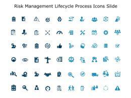 Risk Management Lifecycle Process Icons Slide Direction Ppt Slides