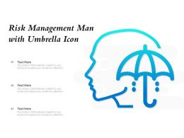 Risk Management Man With Umbrella Icon
