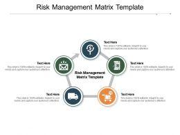Risk Management Matrix Template Ppt Powerpoint Presentation Outline Structure Cpb