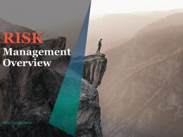 Risk Management Overview Powerpoint Presentation Slides