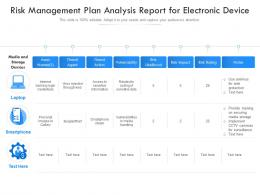 Risk Management Plan Analysis Report For Electronic Device