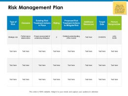 Risk Management Plan Compare Ppt Powerpoint Presentation Icon Templates