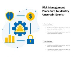 Risk Management Procedure To Identify Uncertain Events